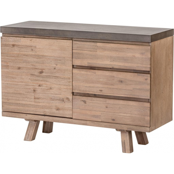 SMALL SIDEBOARD WITH 1 DOOR 3 DRAWERS