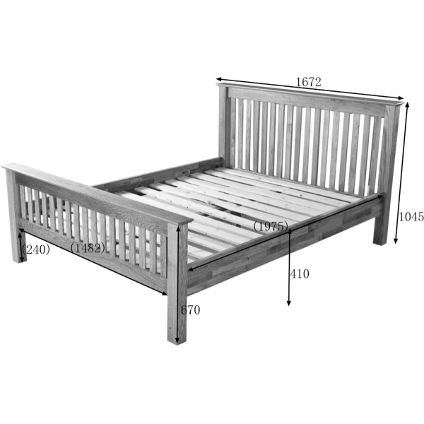 5' HIGH FOOT END BED