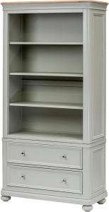 BOOKCASE WITH 2 DRAWERS