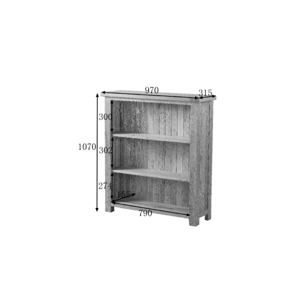 3' WIDE BOOKCASE