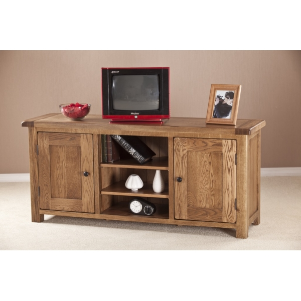 LARGE TV UNIT WITH WOODEN DOORS